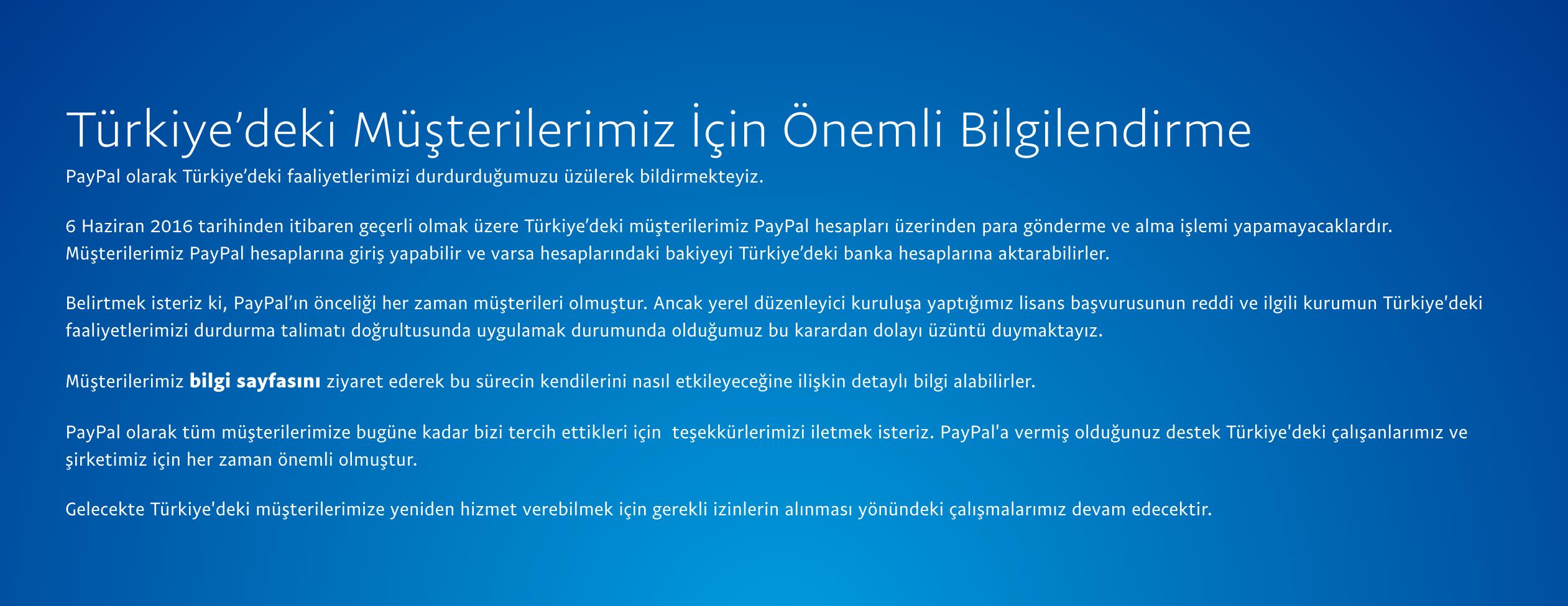 Paypal Türkiyeden Çekilme Kararı Aldı