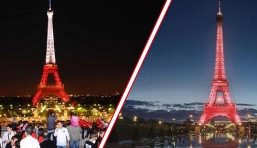 Ve Eyfel Kulesi Kırmızı Beyaz Renklere Büründü!