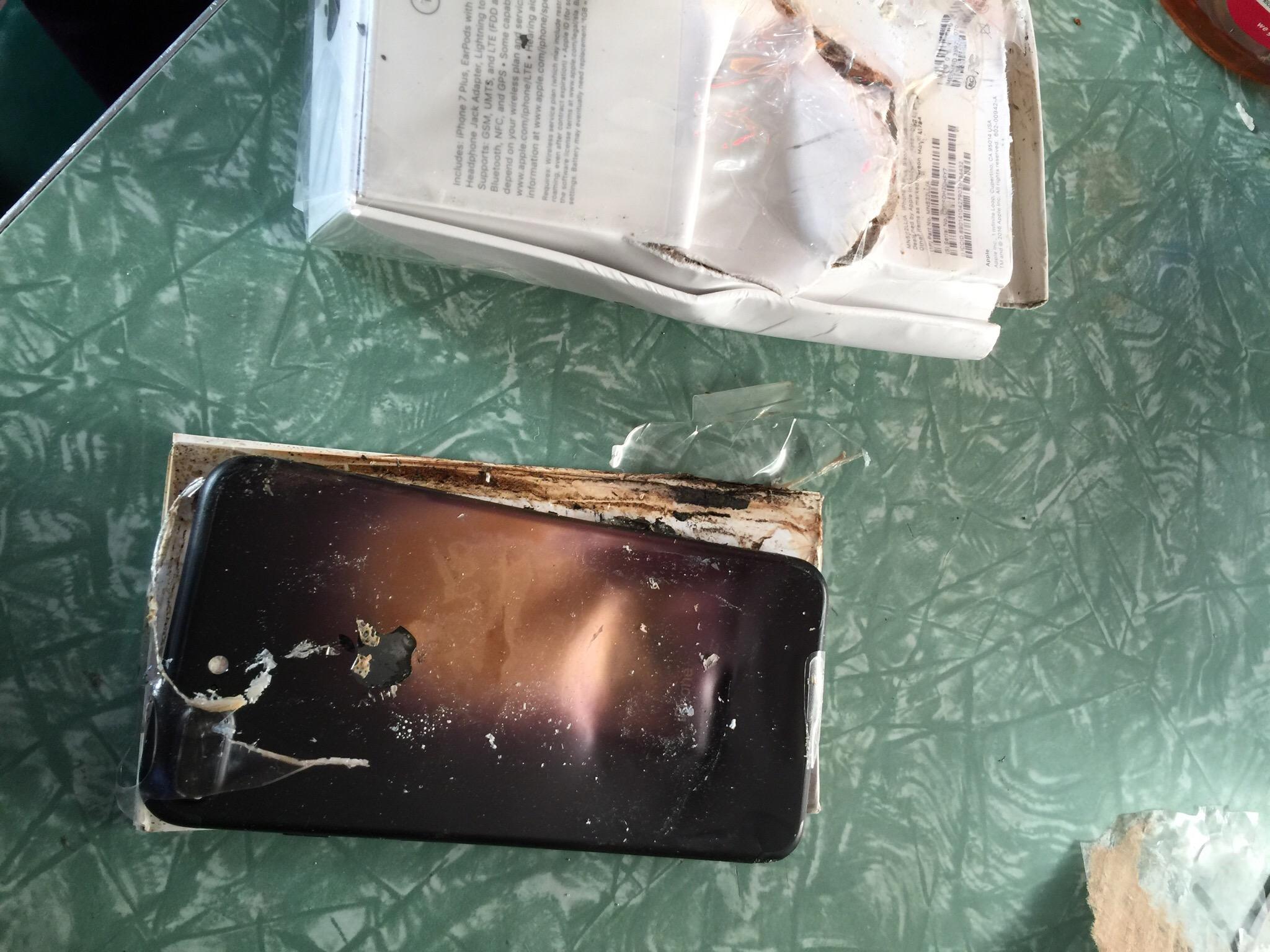 Patlayan iPhone 7 ile Alakalı Yeni Fotoğraflar ve Detaylar