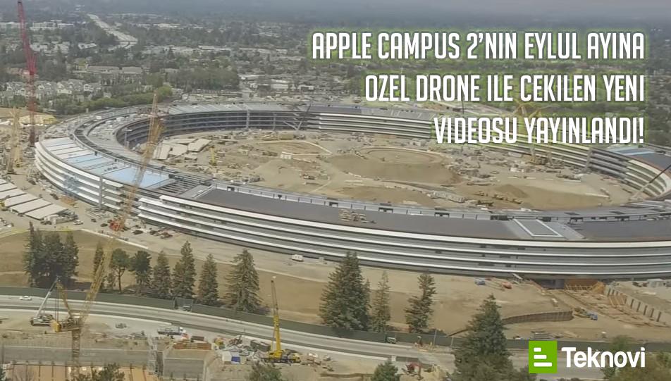 Apple Campus 2'nin Eylül Ayına Özel Drone Videosu