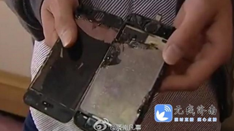 Şarja Bırakılan iPhone 5s Aniden Alev Aldı