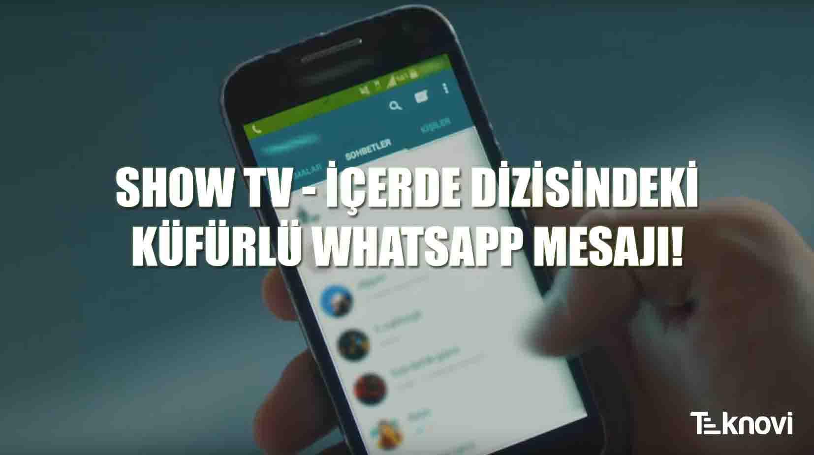 İçerde Dizisinde Küfürlü Whatsapp Mesajı