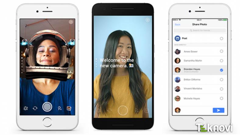 Facebook'a Snapchat Tarzı Efektler Geliyor