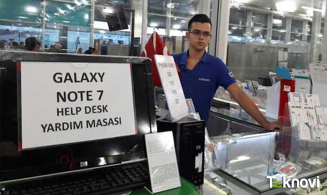 Havalimanlarına Note 7 Değişim Standları Kuruldu