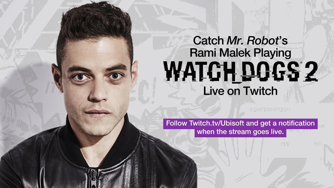 Rami Malek Canlı Yayında Watch Dogs 2 Oynadı