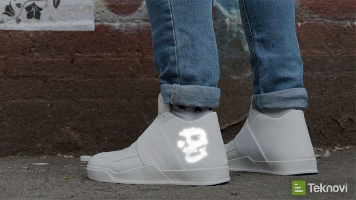 Özelleştirilebilir Ekrana Sahip Akıllı Ayakkabı Vixole