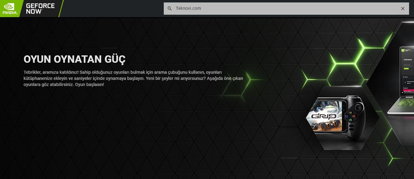 GeForce Now, Oyun oynayan Güç sloganıyla yola çıktı.